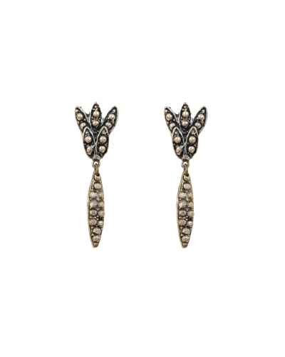 EARRINGS GLAMOUR STRASS XS